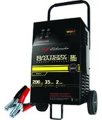 Schumacher Wheel Charger, 12V, 2 Amp Charge Rate, 200 Engine Start, 35 Amp Boost Rate