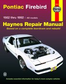Haynes Repair Manuals Pontiac Firebird, 82-92