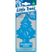 Little Trees Air Freshener 3-Pak, Sun-Washed Cotton