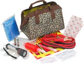 Bell Automotive Products Leopard Print Emergency Road Kit
