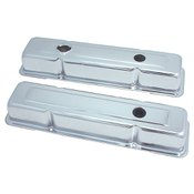 Spectre Performance Valve Covers Small Block Chevy Short 3-Hole Chrome