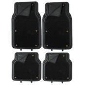 Pilot Automotive Platinum Black 2-in-1 Combo Floor Mats, 4-Pieces