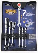 Gearhead Metric Flexible Ratcheting Wrench Set, 7-Piece