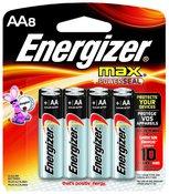 Energizer MAX Alkaline Batteries, 8-Pack