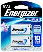 Energizer Advanced Lithium 9V Battery, 2-Pack