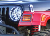 Rampage Euro Light Guard Front Light Guard 6 Piece Set Protects Front Lamps and lenses From Road Debris