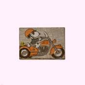 Open Road Brands Snoopy On A Chopper Tin Magnet