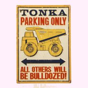 Open Road Brands Tonka Parking Only Tin Sign