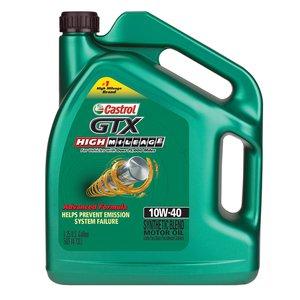 Castrol Gtx 10w 40 High Mileage Motor Oil 5 1 Qt 311515 Pep Boys