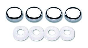 Cruiser Accessories 82630 License Plate Frame Fastener Caps Chrome
