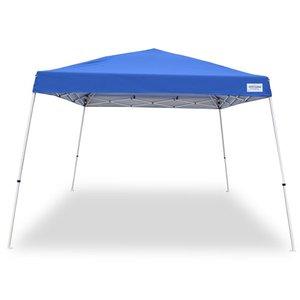 photo  sc 1 st  Pep Boys & Caravan Canopy 12u0027 x 12u0027 Pop Up Canopy Slant Leg Blue Cover ...