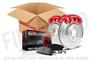 Power Stop Brakes >> Power Stop Evolution Sport 1 Click Brake Kit With Calipers Front