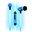 Pilot Electronics Electroluminscent Audio Response Light-up Earbuds, Blue