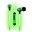 Pilot Electronics Electroluminscent Audio Response Light-up Earbuds, Green