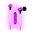Pilot Electronics Electroluminscent Audio Response Light-up Earbuds, Pink