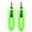 Pilot Electronics Electroluminscent Audio Response Light-up Auxiliary Cable, Green