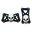 Pilot Automotive Aluminum Pedal Kit w/ Skull, Black/Silver, 2-Piece, Automatic