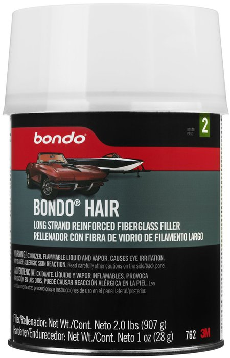 3m Bondo Hair Long Strand Fiberglass Reinforced Filler Quart 8978468 Pep Boys