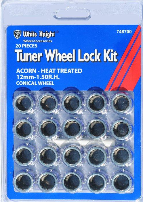 White Knight 12mm x 1.5 Tuner Lock Kit 748700