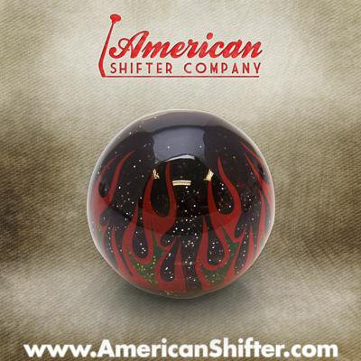 American Shifter 42605 Orange Metal Flake Shift Knob with 16mm x 1.5 Insert Pink Cloud Symbol