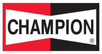 'Champion Logo Battery Pep Express Banner'