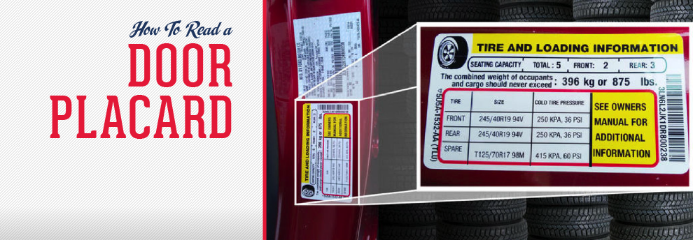 How To Read Tire Size >> How To Read The Tire Pressure Sticker On Door Frame