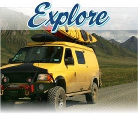 'American Road Trip Explore Banner'