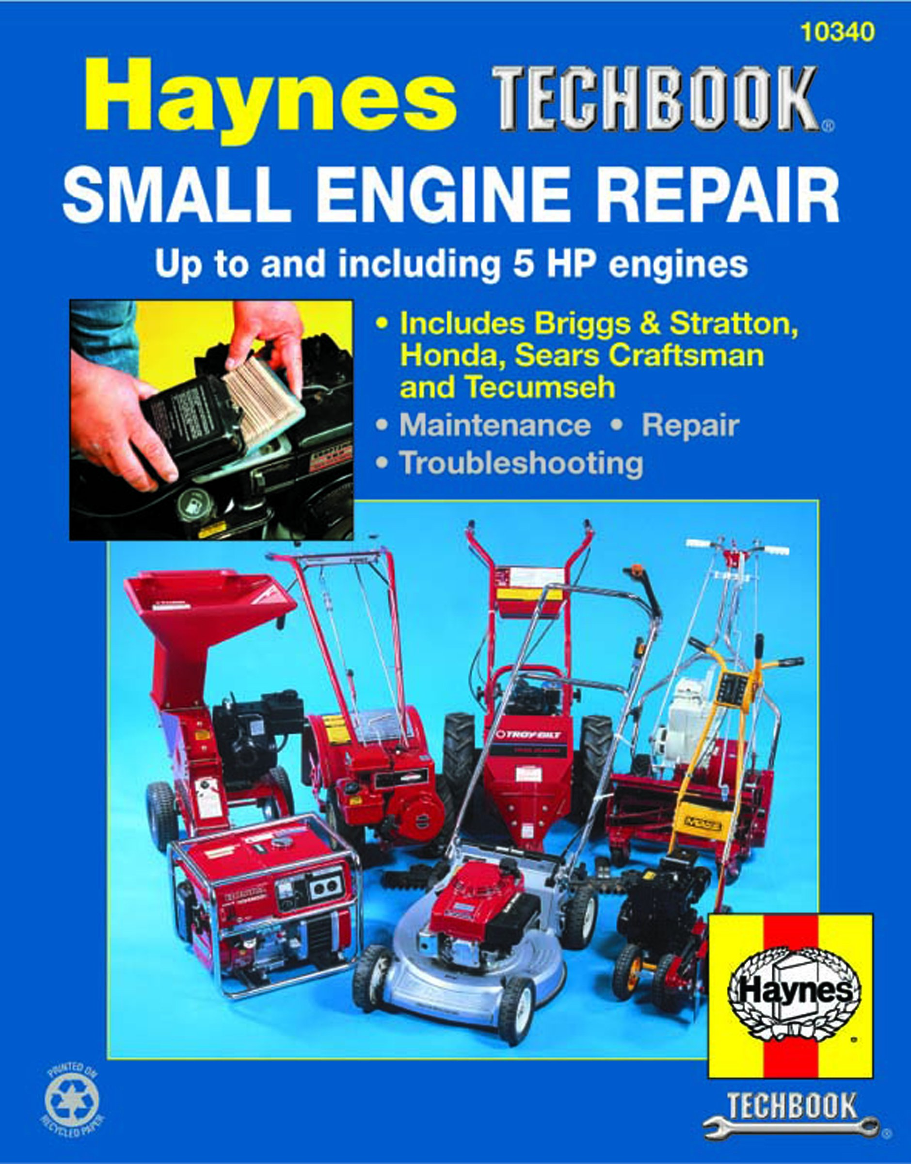 Haynes Techbook Small Engine Repair Manual  Up To 5 Hp