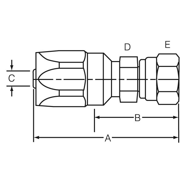 Dayco 116027 Hydraulic Coupling//Adapter