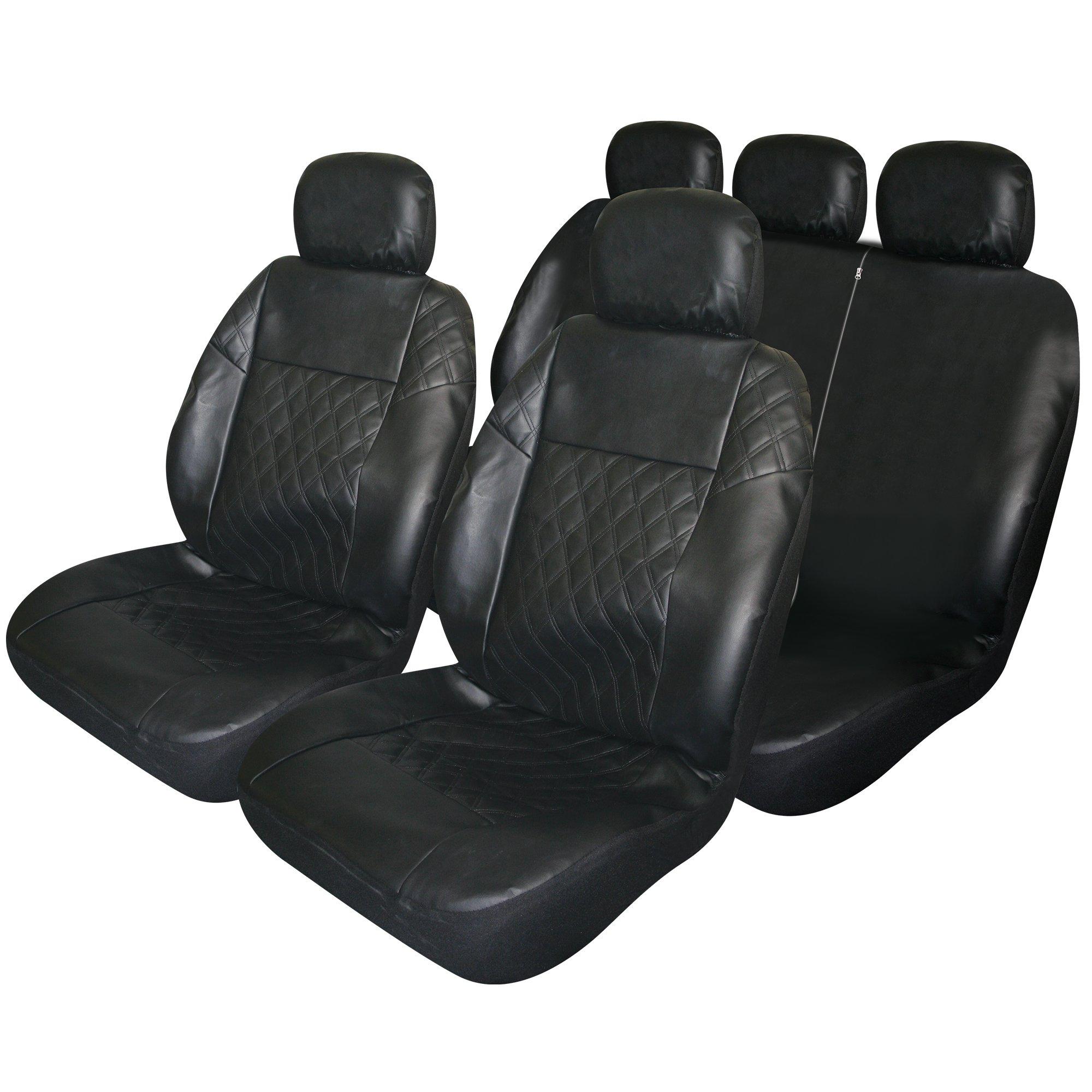 Terrific Details About Masque Black Diamond Pattern Seat Cover Set 67217 Creativecarmelina Interior Chair Design Creativecarmelinacom