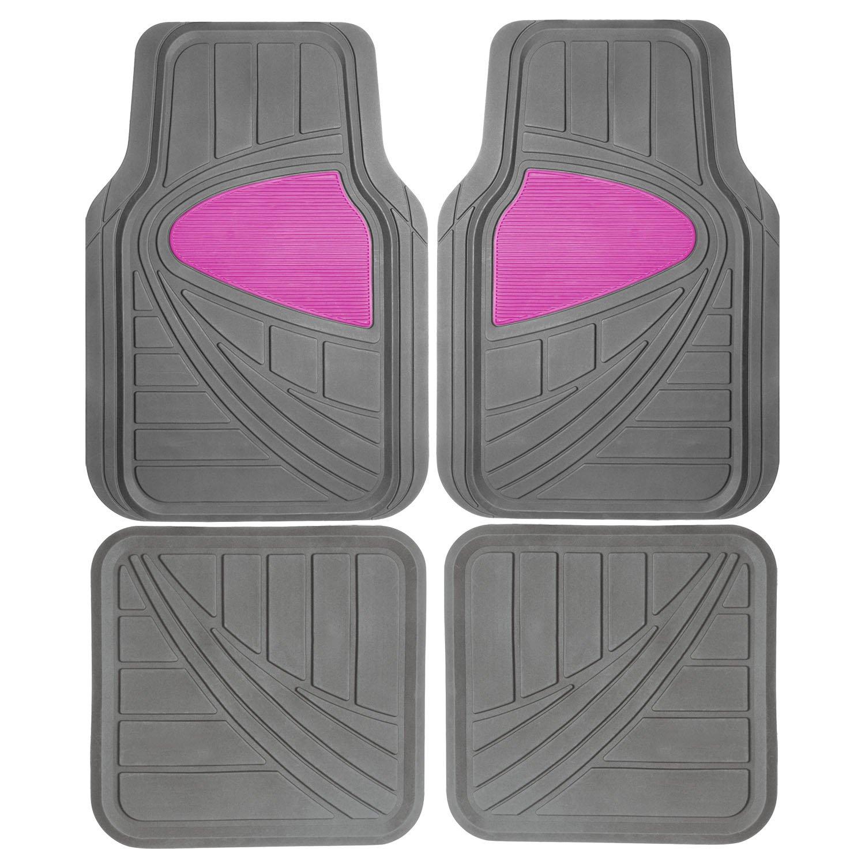 Pilot-Automotive-Heavy-Duty-Rubber-Pink-Floor-Mats-4-Piece-FMX009P