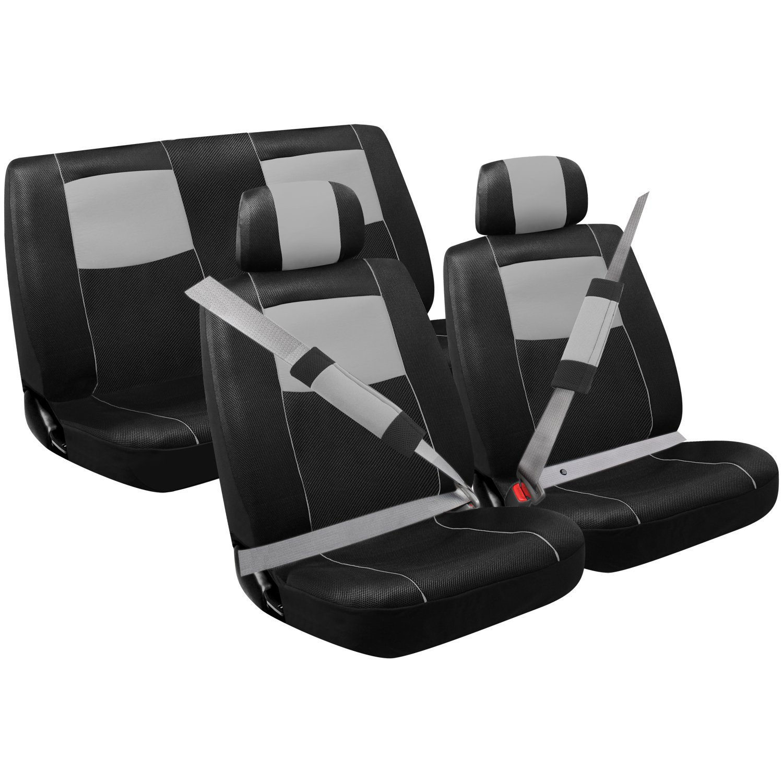 Details about Pilot Automotive Sport Mesh Combo Kit, Black/Grey, 8-Piece  SC310G