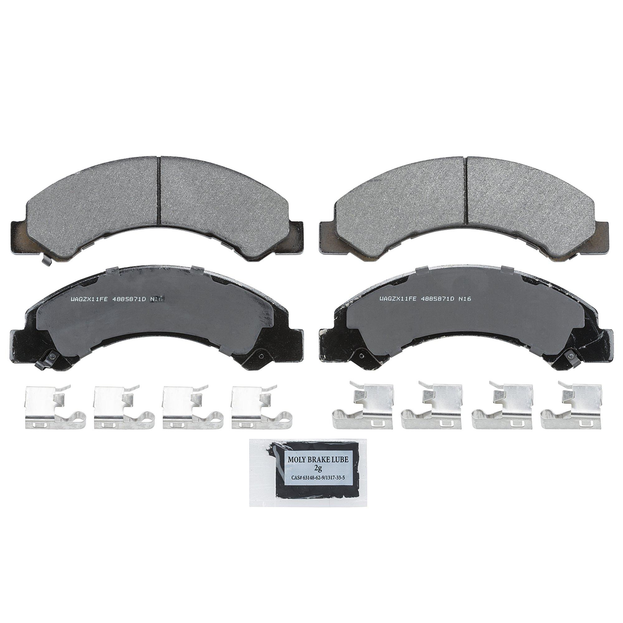 Rear Wagner QuickStop ZD1596 Ceramic Disc Pad Set