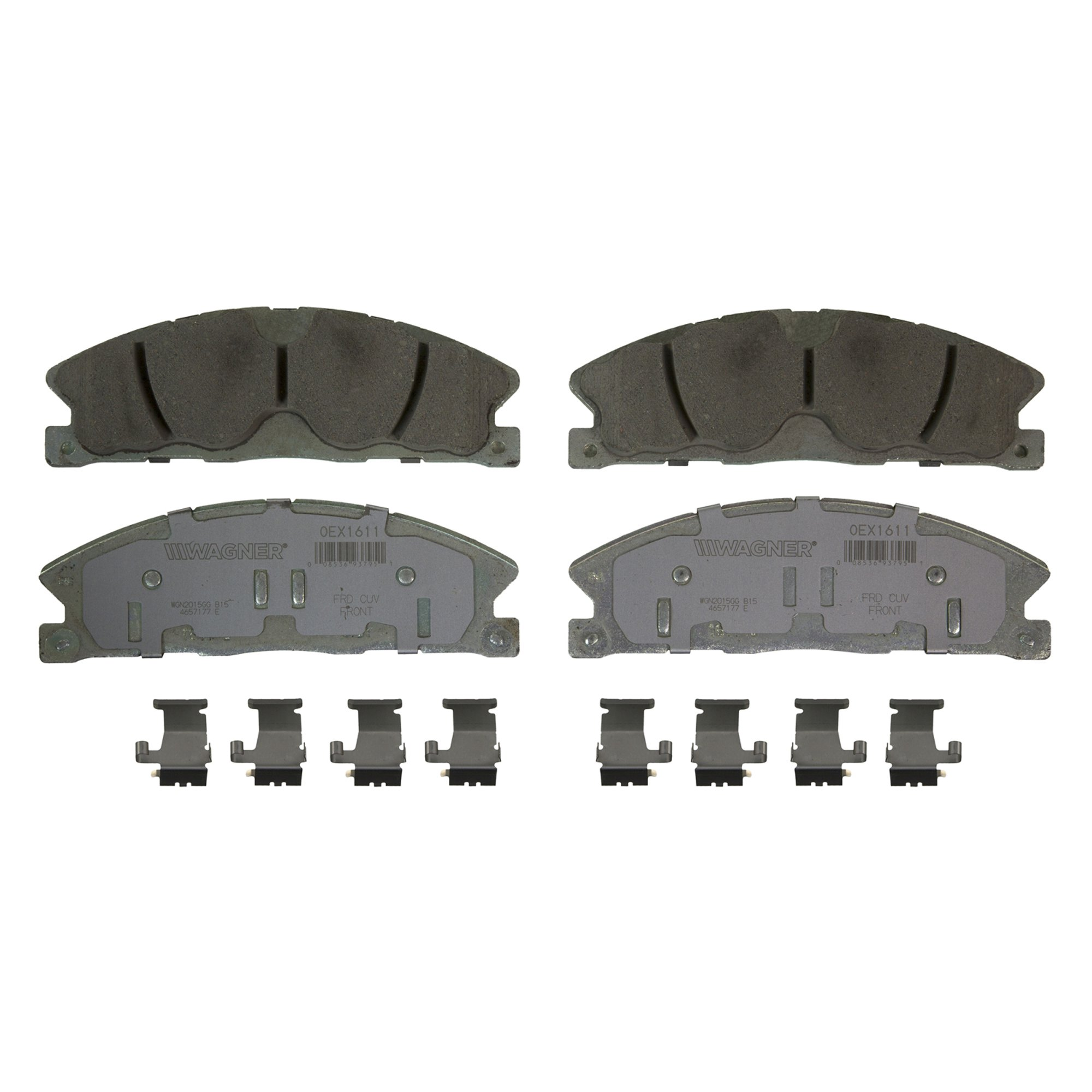 Disc Brake Pad Set-OEX Disc Brake Pad Front Wagner OEX1611