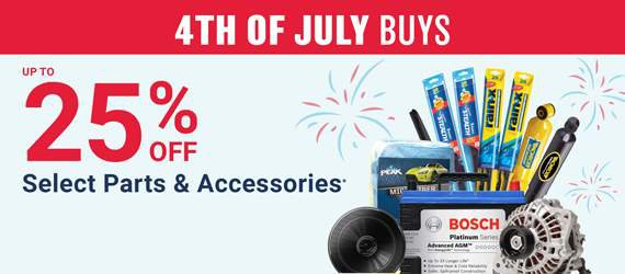 Up To 25% Off Your Online Purchase Of Select Parts And Accessories