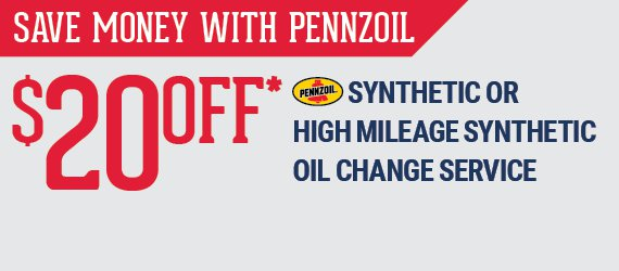 $20 Off Synthetic High Mileage Oil Change