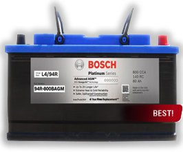 Bosch Platinum AGM batteries